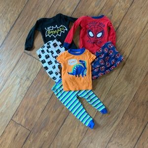 3 pairs of 9 month PJs